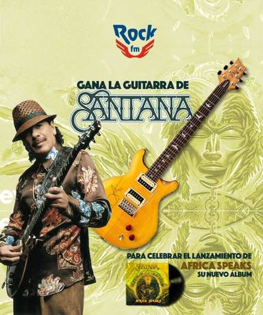 Gana la guitarra de SANTANA