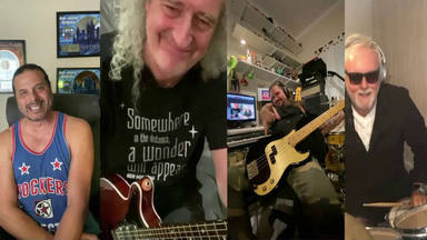 "Brian May y Roger Taylor (Queen) tocan ""We Are the Champions"" desde el confinamiento"