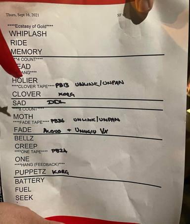 Setlist del concierto secreto de Metallica en San Francisco