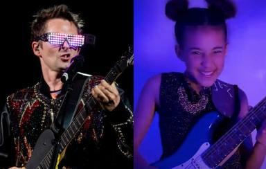 El increíble regalo de Matt Bellamy (Muse) a la niña rockera Nandi Bushell