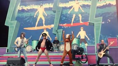 La tremenda broma de Green Day: Weezer estaba tocando y, de repente, sucedió esto