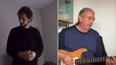 """Rosendo vuelve a aparecer -con su hijo- para tocarnos """"A remar"""""""