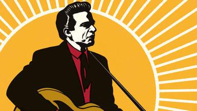 Imagen de una de las tres portadas de la biografía de Johnny Cash de Robert Hilburn.