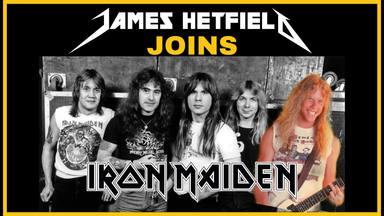 ¿Cómo sonaría Iron Maiden con James Hetfield (Metallica) a la guitarra?
