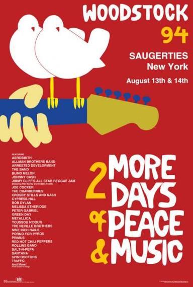Cartel de Woodstock 94