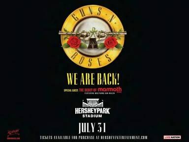 Disfruta de la vuelta a los escenarios de Guns N Roses por su gira Were FN Back!