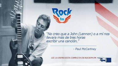 """""""No creo que a John y a mí nos llevara más de tres horas escribir una canción"""", entrevista a Paul McCartney"""