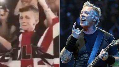 La emocionante reacción de este joven fan de Metallica cuando James Hetfield se fija en él durante un show
