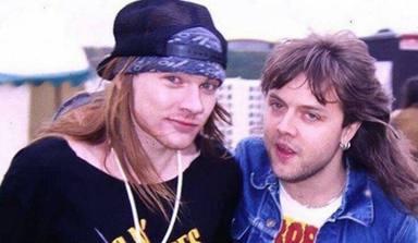 """La tensión entre Axl Rose (Guns N' Roses) y Lars Ulrich (Metallica): """"Los dos querían dominar el mundo"""""""