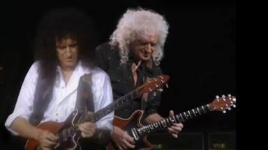 Brian May (Queen) se sube al escenario con él mismo, pero de joven