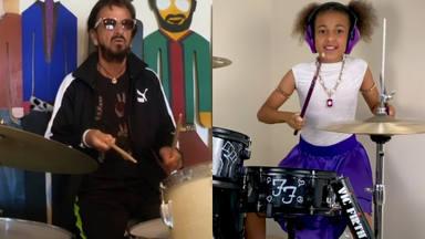 """Ringo Starr """"ficha"""" a la niña prodigio Nandi Bushell y a estos legendarios baterías para tocar """"Come Together"""""""