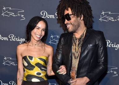 Lenny Kravitz con su hija Zoe
