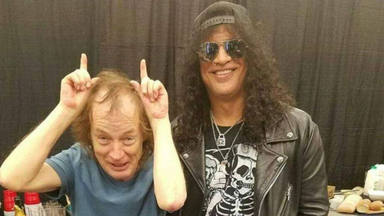 Slash (Guns N' Roses) da su sincera opinión sobre Angus Young (AC/DC)