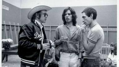 Elton John, Mick Jagger y Charlie Watts
