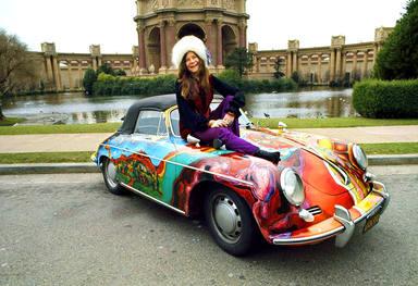 Janis Joplin en su Porsche