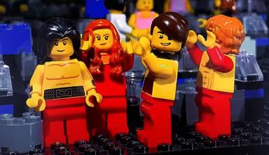 Así luce la victoria de Måneskin en Eurovisión en una fiel reproducción de Lego