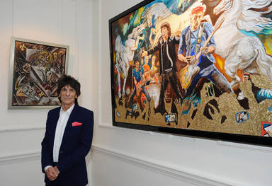 Iconic Rock Star Exhibits Fine Art Collection-Unveiled By Ronnie Wood At Castle Fine Art