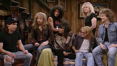 """Aerosmith y el elenco de """"Los Mundos de Wayne"""" juntos de nuevo"""