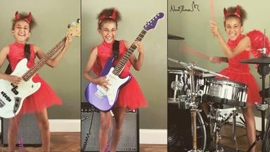 "La niña que emocionó a Tom Morello sorpende a Kirk Hammett con su versión del ""Enter Sandman"" (Metallica)"