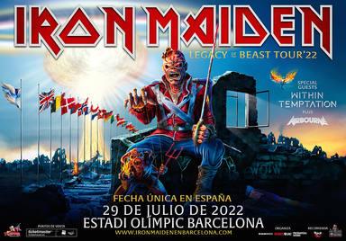 """Iron Maiden anuncia su nueva fecha en España, la gira """"Legacy of the Beast"""" llegará en 2022"""