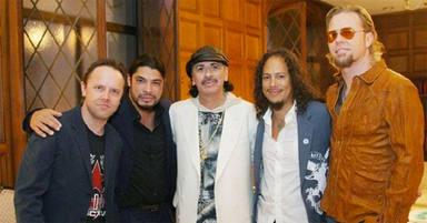 El dúo de guitarras más esperado: Carlos Santana anuncia que está grabando con Kirk Hammet (Metallica)