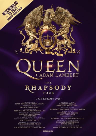 Queen + Adam Lambert anuncia nuevas fechas de su tour europeo, pospuesto por el coronavirus