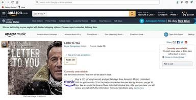 Filtración del nuevo disco de Bruce Springsteen