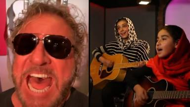 ¿Sammy Hagar (Van Halen), Chad Kroeger (Nickelback) y un coro de niñas afganas cantando Steve Miller?