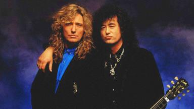 Las altas esferas del rock preparan un estallizo brutal: Jimi Page y David Coverdale, juntos una vez más