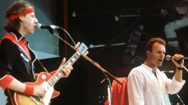 Mark Knopfler y Sting en el Live Aid