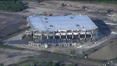 La alucinante implosión de este histórico estadio donde tocaron Pink Floyd, Bon Jovi o Aerosmith