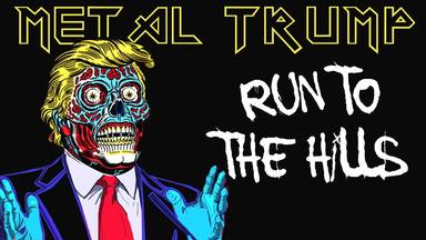 "No te pierdas en insólito vídeo de Donald Trump ""cantando"" el ""Run to the Hills"" de Iron Maiden"