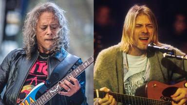 """Kirk Hammett (Metallica) da su sincera opinión sobre Nirvana: """"Me sorprendió que Kurt fuera fan nuestro"""""""